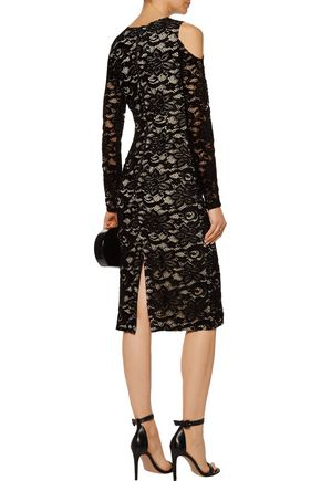 ALICE + OLIVIA Laila cold-shoulder lace dress