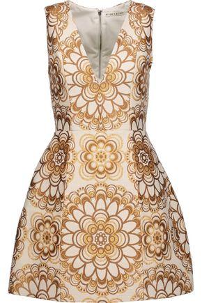 ALICE + OLIVIA Patty brocade mini dress
