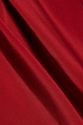 ALICE + OLIVIA Jaimee draped pleated silk-blend dress