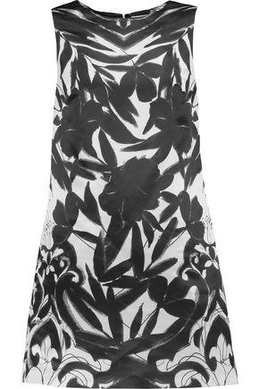 ALICE + OLIVIA April printed satin mini dress