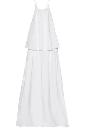 PAPER London Corine layered cotton-broadcloth maxi dress