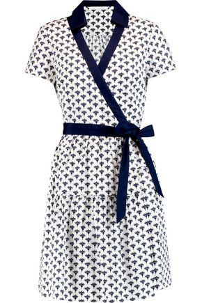 DIANE VON FURSTENBERG Kaley wrap-effect printed cotton-poplin dress