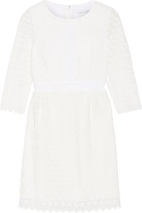 DIANE VON FURSTENBERG Dolly cady-trimmed crocheted cotton mini dress