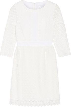 DIANE VON FURSTENBERG Dolly cady-trimmed crocheted cotton mini dress