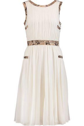 DIANE VON FURSTENBERG Letty pleated silk-chiffon dress