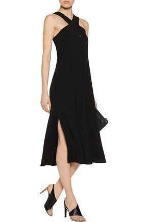 THEORY Mambert twisted crepe midi dress