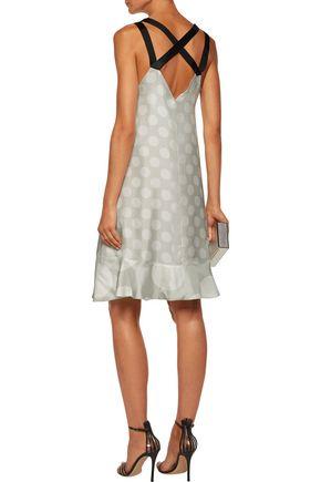 PAPER London Vacances polka-dot silk satin-twill mini dress