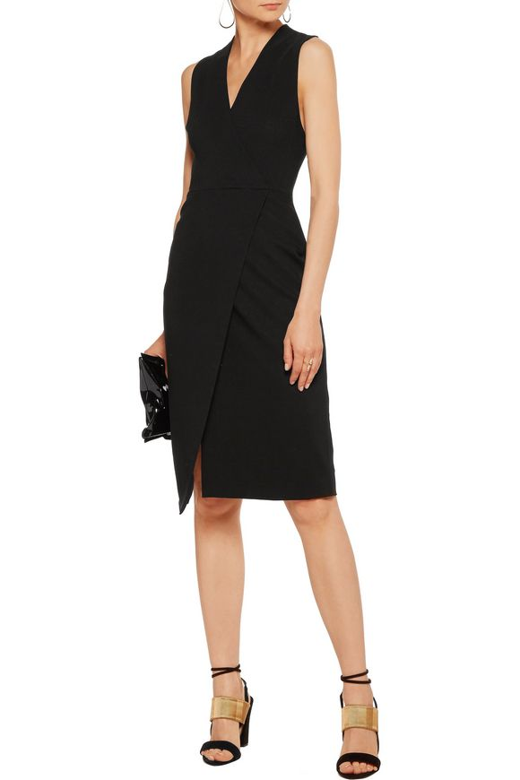Carissa wrap-effect crepe dress | ALICE + OLIVIA | Sale up to 70% off | THE  OUTNET