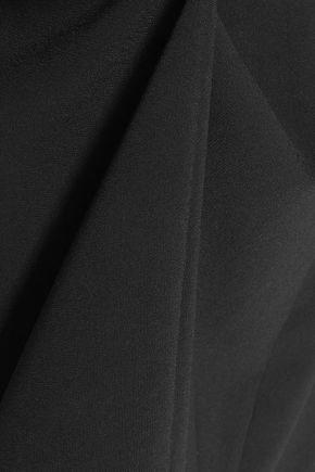 HALSTON HERITAGE Draped crepe halterneck dress