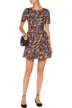 SALONI Nikki printed cloqué mini dress