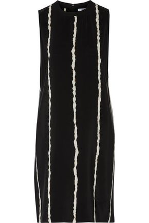 10 CROSBY DEREK LAM Cutout printed silk crepe de chine mini dress