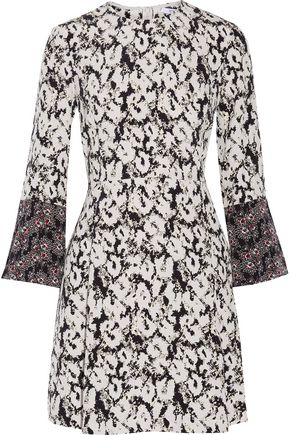 DEREK LAM 10 CROSBY Printed silk-twill mini dress