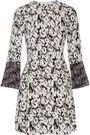 DEREK LAM 10 CROSBY Printed silk-twill mini dress