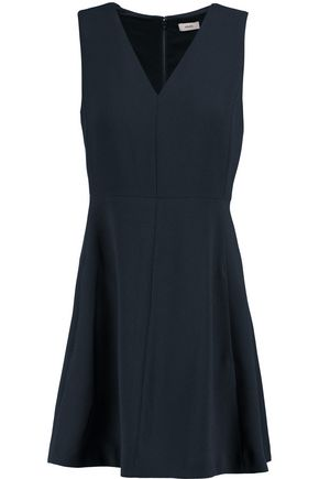 VINCE. Pleated crepe mini dress
