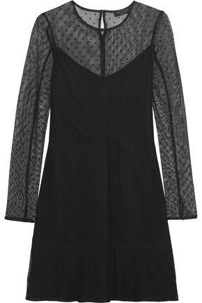 RAG & BONE Charlotte Swiss-dot tulle mini dress