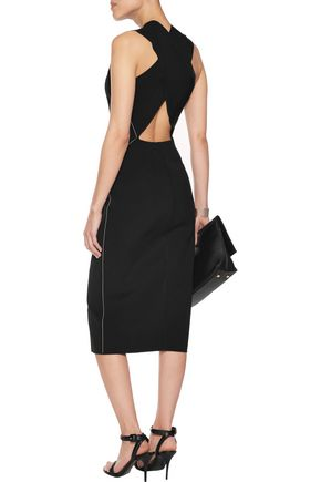 RAG & BONE Cutout stretch-knit midi dress