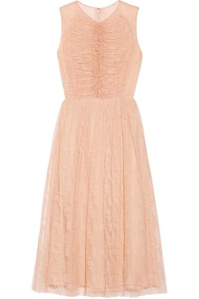 JASON WU Ruched lace dress