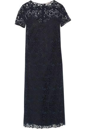 NINA RICCI Cotton-blend guipure lace midi dress