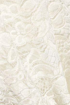 NINA RICCI Cotton-blend lace midi dress