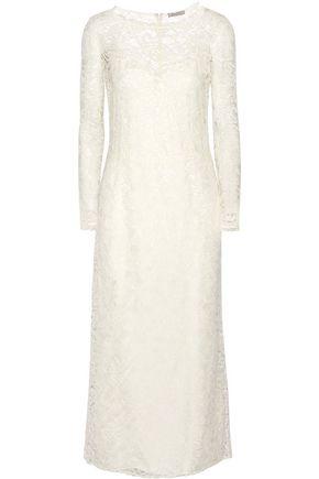 nina ricci cottonblend lace midi dress