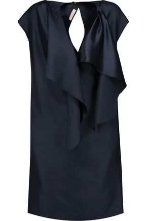 NINA RICCI Ruffled silk-satin mini dress
