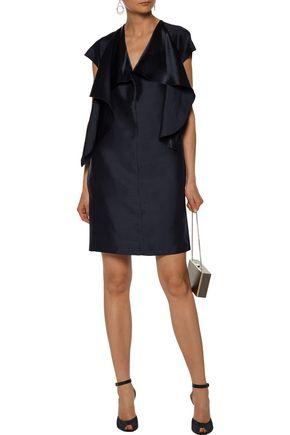 NINA RICCI Ruffled silk-satin mini dress