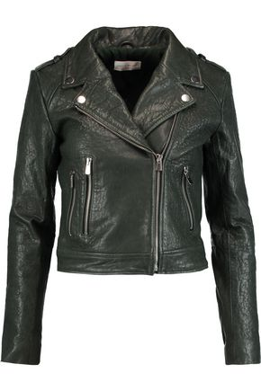 REBECCA VALLANCE Textured-leather biker jacket