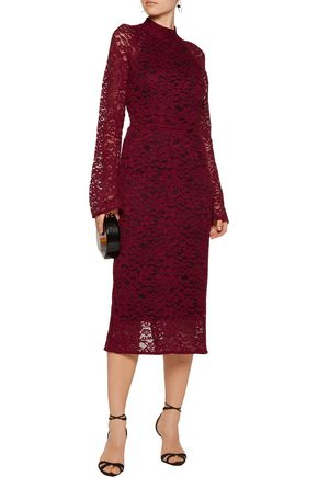 REBECCA VALLANCE Corded lace midi dress