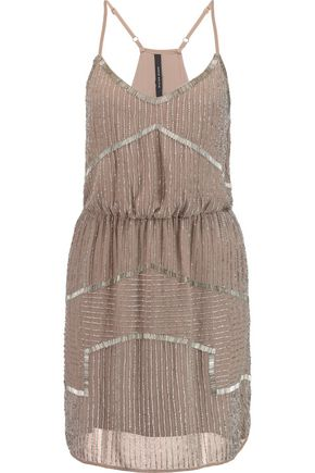W118 by WALTER BAKER Destiny bead-embellished chiffon mini dress