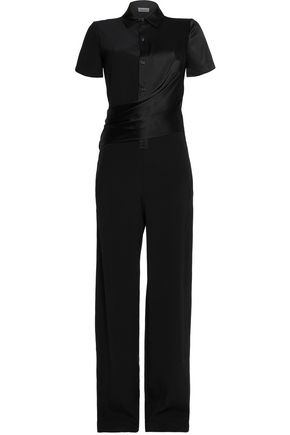 DKNY Asymmetric satin jumpsuit