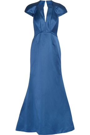 ZAC POSEN Cutout double-faced duchesse-satin gown