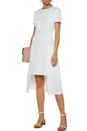 ROSETTA GETTY Asymmetric washed-satin dress
