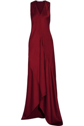 ROSETTA GETTY Bias satin-twill gown