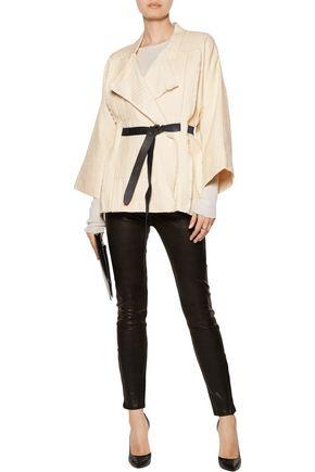 IRO Ambar frayed cotton-blend jacket