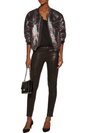 IRO Zina metallic cotton-blend bomber jacket