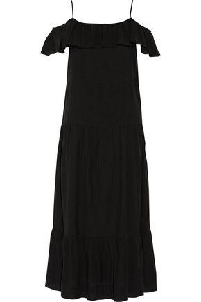 IRIEDAILY | Iro Juliet Cold-Shoulder Ruffled Gauze Maxi Dress | Goxip