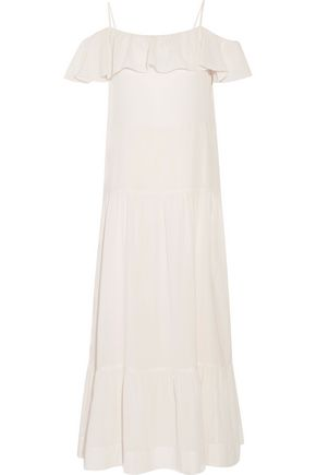 IRO Juliet cold-shoulder ruffled gauze maxi dress