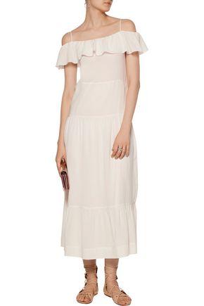 IRO Juliet cold-shoulder ruffled gauze maxi dress