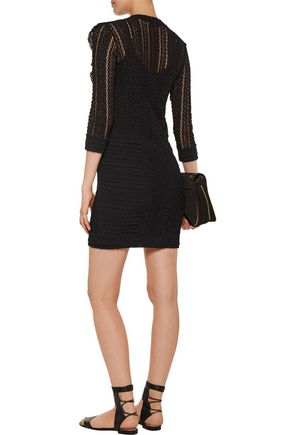IRO Lark ruffled cotton-blend lace mini dress