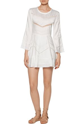 IRO Madelina lace and pointelle-trimmed jacquard mini dress