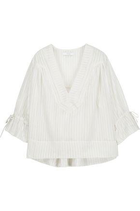 IRO Flore gathered cotton-blend top