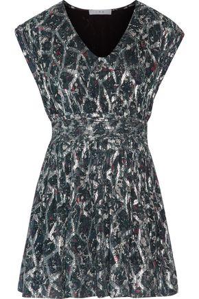 IRO Flavia printed fil coupé silk-blend mini dress