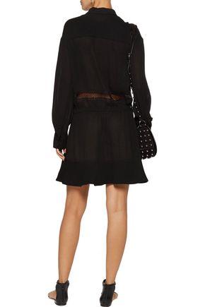 IRO Francy crochet-trimmed georgette mini dress