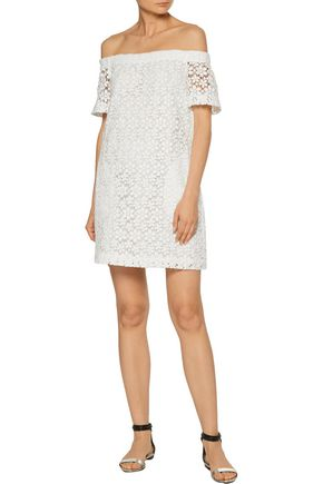 A.L.C. Off-the-shoulder cotton-guipure lace mini dress