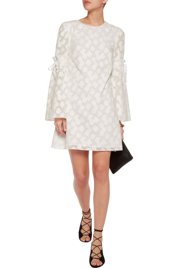 Irene fil coupé cotton mini dress | TANYA TAYLOR | Sale up to 70% off | THE  OUTNET