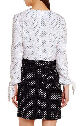 J.W.ANDERSON Two-tone polka-dot crepe mini dress