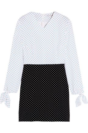 J.W.ANDERSON Two-tone polka-dot crepe mini dress