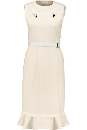 J.W.ANDERSON Fluted buckle-embellished twill dress