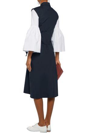 J.W.ANDERSON Wrap-effect tie-front cotton-blend poplin midi dress