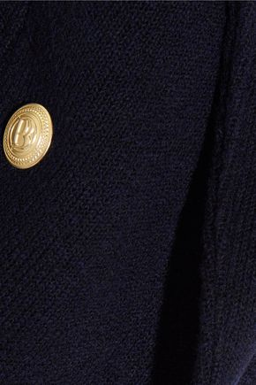 PIERRE BALMAIN Chain-embellished wool-blend jacket